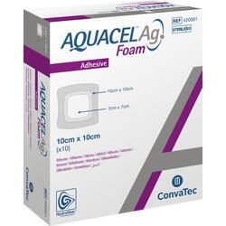 Abbildung von Aquacel Ag Foam Adhäsiv 10x10cm  Verband