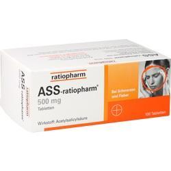 Abbildung von Ass-ratiopharm 500mg  Tabletten