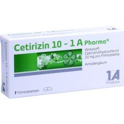 Abbildung von Cetirizin 10 - 1 A Pharma  Filmtabletten
