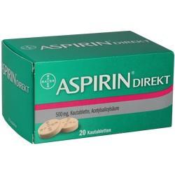 Abbildung von Aspirin Direkt  Kautabletten