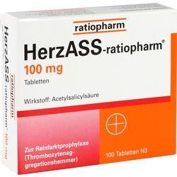 Abbildung von Herzass-ratiopharm 100 Mg  Tabletten