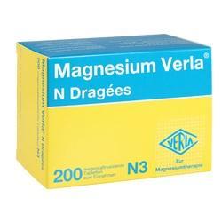 Abbildung von Magnesium Verla N Dragees  Tabletten