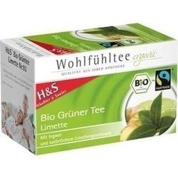 Abbildung von H&s Bio-grüner Tee Limette  Filterbeutel