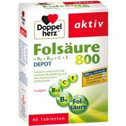 Abbildung von Doppelherz Folsäure 800+b-vitamine  Tabletten