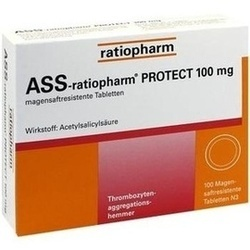 Abbildung von Ass-ratiopharm Protect 100mg  Tabletten