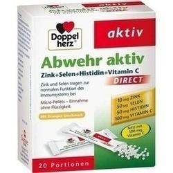 Abbildung von Doppelherz Abwehr Aktiv Direct Zink+selen+histidin  Pellets