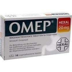Abbildung von Omep Hexal 20mg Magensaftresistente Tabletten