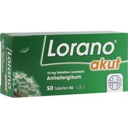 Abbildung von Lorano Akut  Tabletten