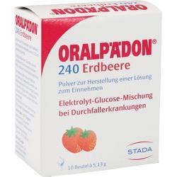Abbildung von Oralpädon 240 Erdbeere Beutel  Pulver