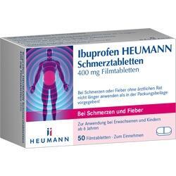 Abbildung von Ibuprofen Heumann Schmerztabletten 400mg Filmtabl.  Filmtabletten