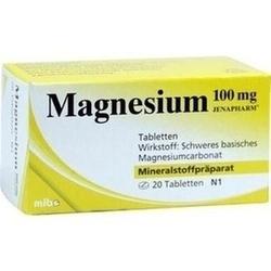 Abbildung von Magnesium 100mg Jenapharm Tabletten