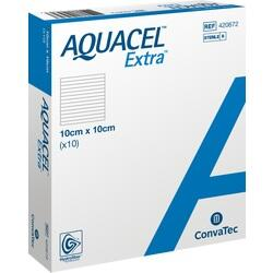 Abbildung von Aquacel Extra 10x10cm  Kompressen