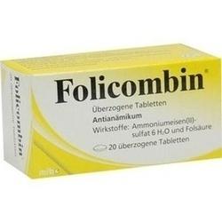 Abbildung von Folicombin überzogene Tabletten
