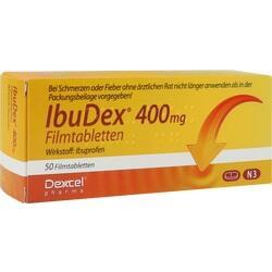 Abbildung von Ibudex 400mg  Filmtabletten