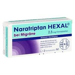 Abbildung von Naratriptan Hexal Bei Migräne 2.5mg  Filmtabletten