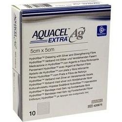 Abbildung von Aquacel Ag Extra 5x5cm  Kompressen