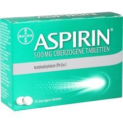Abbildung von Aspirin 500mg überzogene Tabletten