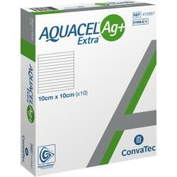 Abbildung von Aquacel Ag+ Extra 10x10cm  Kompressen