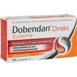 Abbildung von Dobendan Direkt Zuckerfrei Flurbiprofen 8.75mg Lt  Lutschtabletten