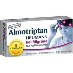 Abbildung von Almotriptan Heumann Bei Migräne 12.5mg Filmtabl.  Filmtabletten