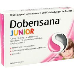 Abbildung von Dobensana Junior 1.2mg 0.6mg  Lutschtabletten