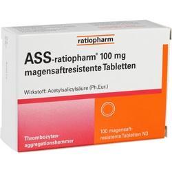 Abbildung von Ass-ratiopharm 100 Mg Magensaftresistente Tablette  Tabletten