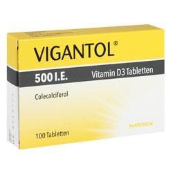 Abbildung von Vigantol 500 I.e. Vitamin D3 Tabletten