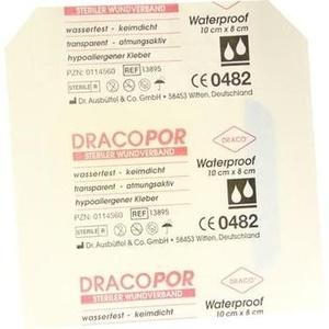 DRACOPOR waterproof Wundverband 8x10 cm steril