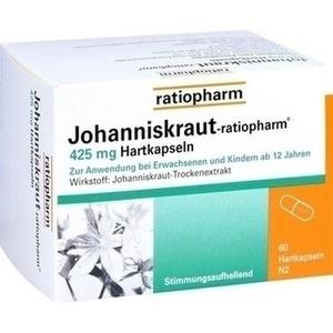 JOHANNISKRAUT-RATIOPHARM 425 mg Hartkaps.