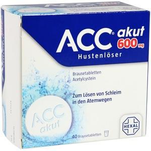Abbildung von Acc Akut 600 Hustenlöser Brausetabletten