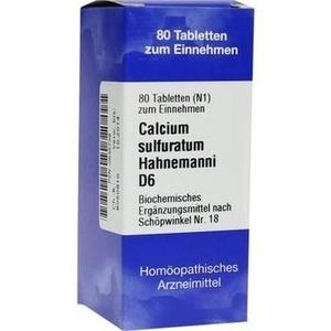 Biochemie 18 Calcium Sulfuratum D6 Tabletten