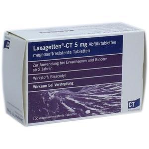 LAXAGETTEN-CT 5 mg Abführtabletten