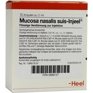 MUCOSA nasalis suis Injeel Ampullen