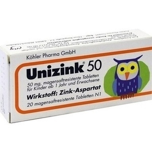 UNIZINK 50 magensaftresistente Tabletten