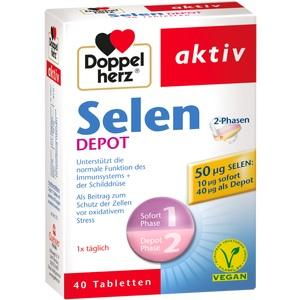 DOPPELHERZ Selen 2-Phasen Depot Tabletten
