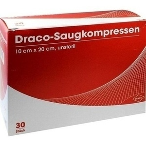 SAUGKOMPRESSEN unsteril 10x20 cm Draco