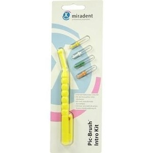 MIRADENT Interd.Pic-Brush Intro Kit gelb 1Hal.+4B.