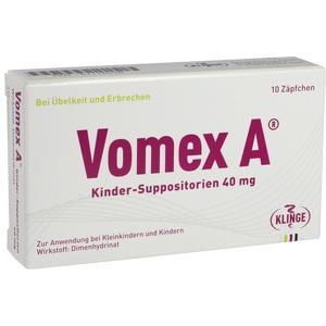 VOMEX A Kinder-Suppositorien 40 mg
