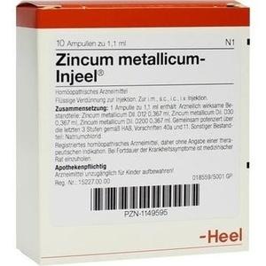 ZINCUM METALLICUM INJEEI Ampullen