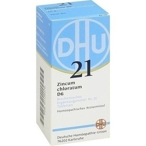 Biochemie 21 Zincum Chloratum D6 Tabletten