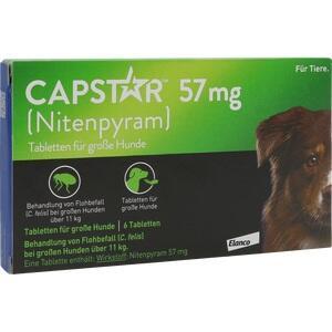 CAPSTAR 57 mg Tabletten f.große Hunde