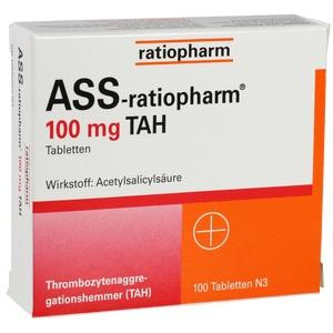 Abbildung von Ass-ratiopharm 100mg Tah  Tabletten