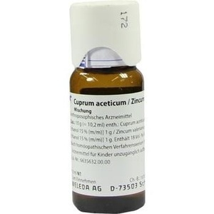 CUPRUM ACETICUM/Zincum valerianicum Dilution