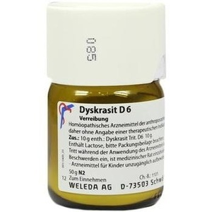 DYSKRASIT D 6 Trituration