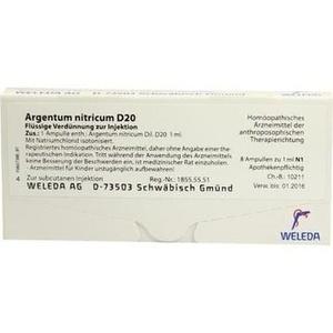 ARGENTUM NITRICUM D 20 Ampullen