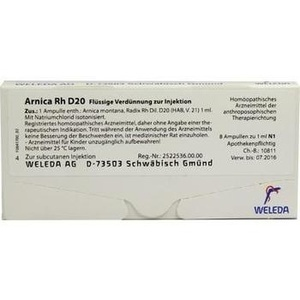 ARNICA RH D 20 Ampullen