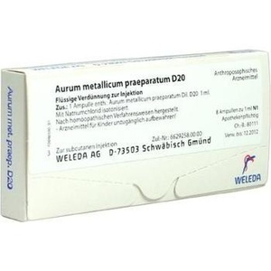 AURUM METALLICUM PRAEPARATUM D 20 Ampullen