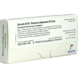 AURUM D 10/Ferrum sidereum D 10 aa Ampullen