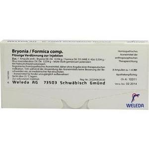 BRYONIA FORMICA comp.Ampullen
