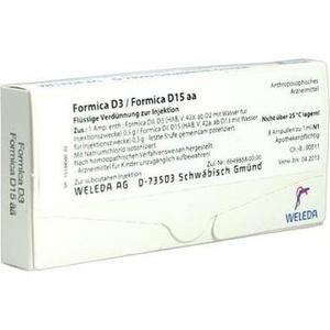 FORMICA D 3 / FORMICA D 15 aa Ampullen